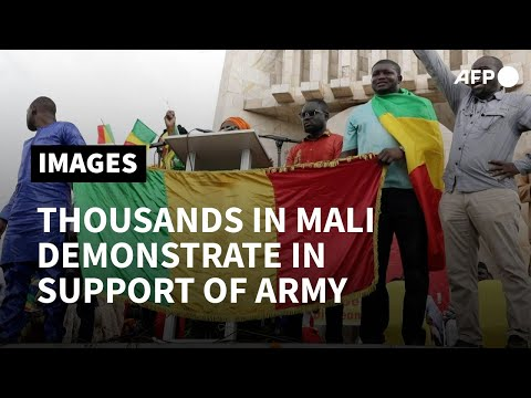 Thousands in Mali demonstrate in support of army rulers | AFP