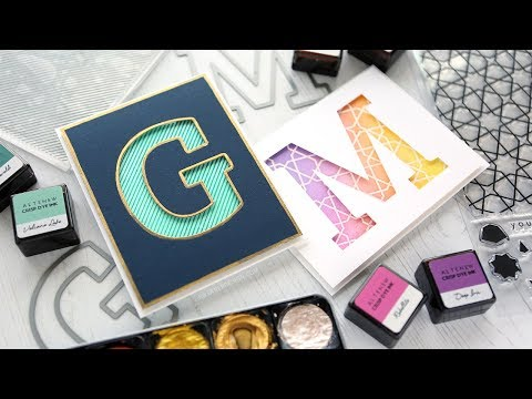 Personalized Monogram Cards