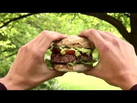 Grillet fuldkornsburger
