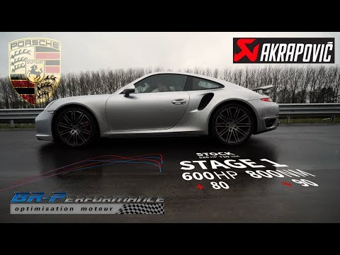 Porsche 911 3.8 DFi Turbo Remap Stage 1 with Akrapovic Exhaust System