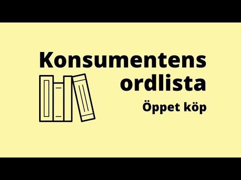Konsumentens ordlista - öppet köp