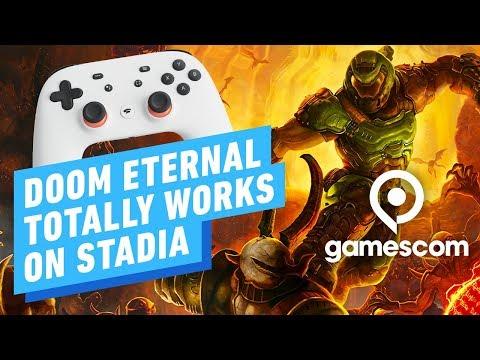 Doom Eternal on Stadia: Hands-on Impression - Gamescom 2019 - UCKy1dAqELo0zrOtPkf0eTMw