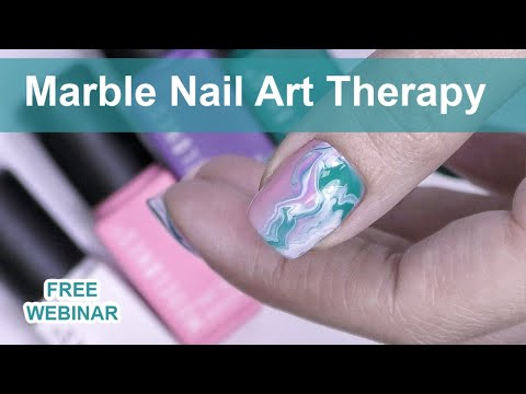 🔴 Marble Nail Art Therapy