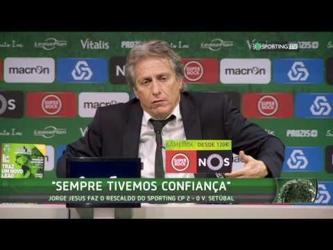 Conferência de Imprensa Jorge Jesus - Sporting CP X Vitória FC - 3 de dezembro de 2016
