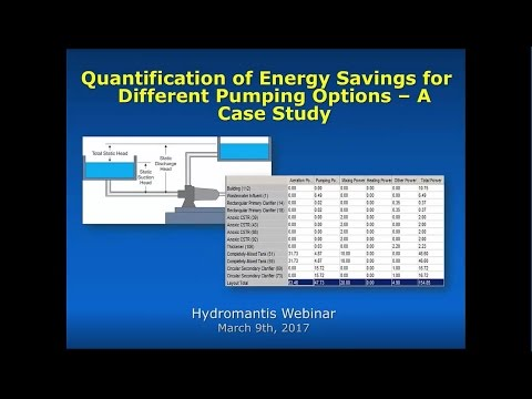 Webinar: Quantification of Energy Savings for Different Pumping Options – A Case Study