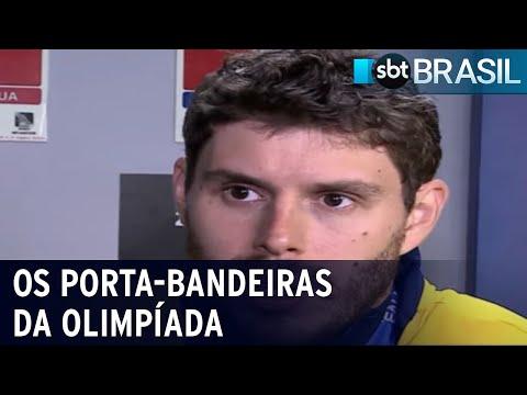 Bruninho do vôlei e Ketleyn do judô serão porta-bandeiras nos jogos | SBT Brasil (17/07/21)