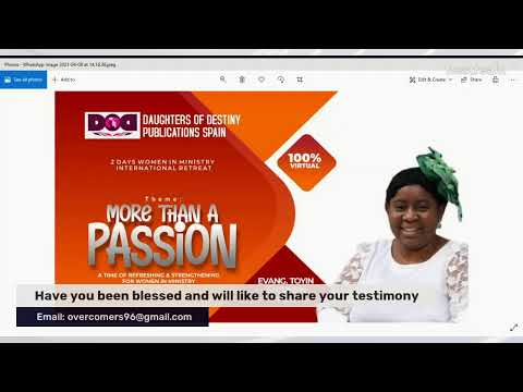 WOMEN IN MINISTRY WEEKLY PROGRAM - EFFECTIVE  INDEPENDENT MINISTRY I(SEMINAR)