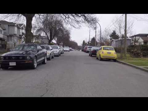 Living in Vancouver British Columbia Canada - Housing - Driving Around Residential Area
