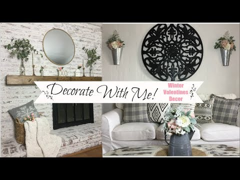 Decorate With Me | Winter Valentines Decor| Shabby Chic Farmhouse | Momma from scarcth
