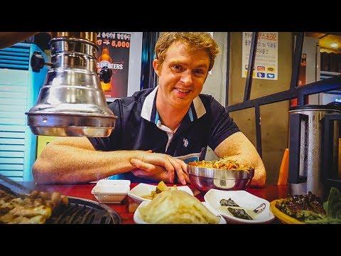 South Korea Trip STARTS NOW! | Korean Barbecue in Seoul eating Samgyeopsal (삼겹살)