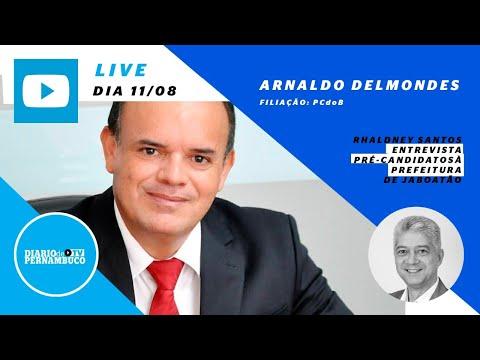 Rhaldney Santos entrevista o pré-candidato à prefeitura de Jaboatão Arnaldo Delmondes