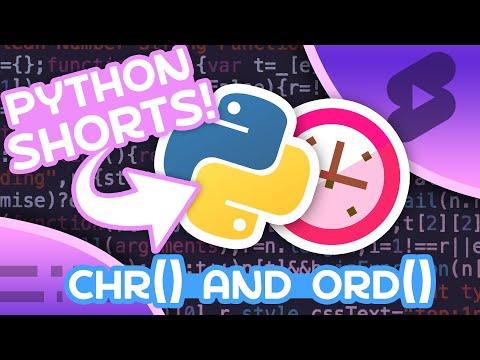 chr() & ord() in Python - Using ASCII Values