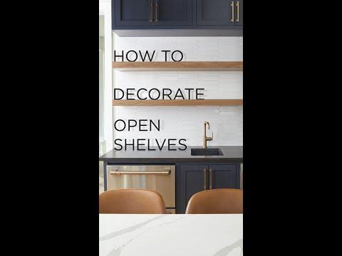 DIY Open Shelf Decor