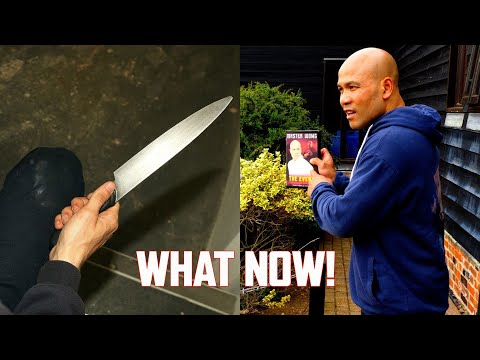 How to defend yourself a book against knife | Master Wong