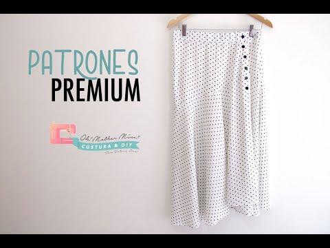 Patrones PREMIUM: Falda topos mujer abertura lateral (tallas 34 – 44)