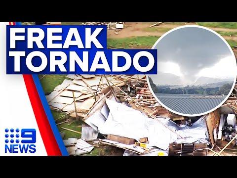 Rare tornado hits Central West NSW | 9 News Australia