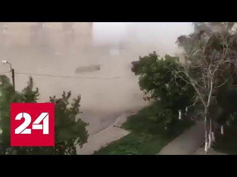 Ураган снес крыши в Караганде
