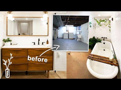 my dream spa basement bathroom makeover! | Making Home | EP6