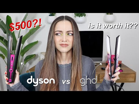 """TRYING THE $500 DYSON FLAT IRON......underwhelming"""""""