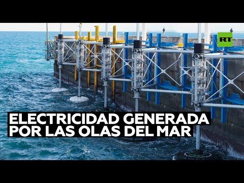 Instalan máquinas que obtienen energía eléctrica de las olas del mar