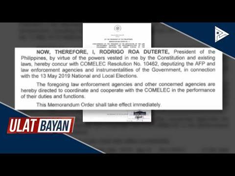 Pangulong #Duterte, ipinag-utos sa AFP at PNP ang mapayapang eleksyon