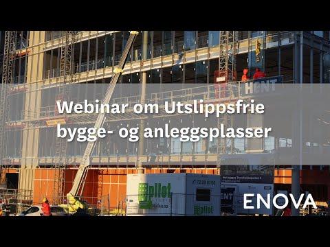 Webinar om Utslippsfrie bygge- og anleggsplasser