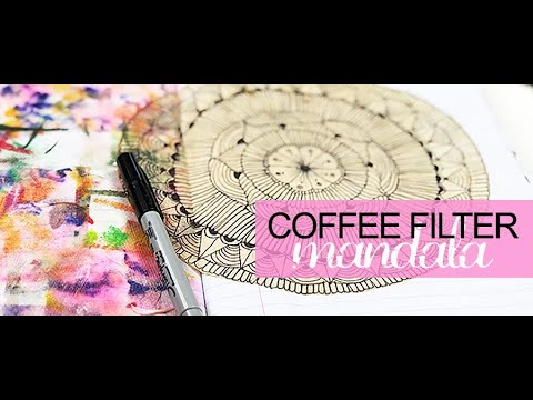 coffee filter mandala