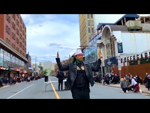 People Kneel in Solidarity and Dance on Streets During the George Floyd Protest in Canada