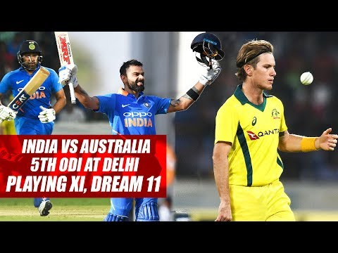 India vs Australia 5th ODI at Delhi: FPJ's playing XI, Dream 11 Prediction For India And Australia
