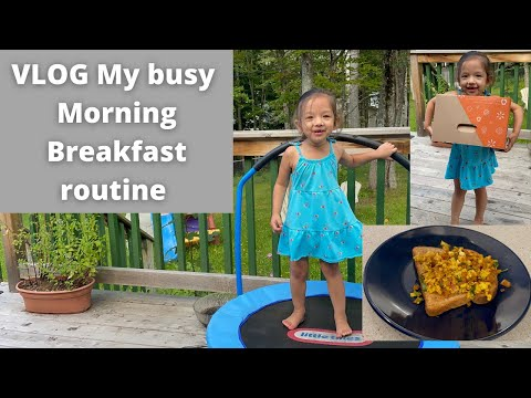 VLOG Busy Monday Breakfast routine   Vlog from Canada   Tamil Vlog  MomCafe