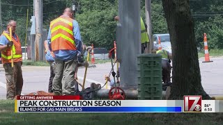Peak construction season to blame for surge in gas leaks in Wake County