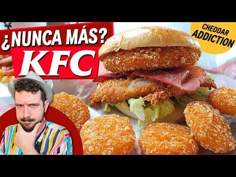¿NUNCA MÁS KFC? Os cuento por qué NO HE VUELTO hasta ahora PROBANDO CHEDDAR ADDICTION nuevo menú KFC