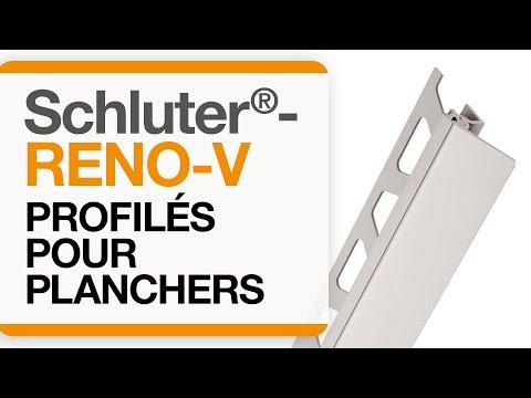 Comment installer un profilé de transition dans un carrelage au sol : Schluter®-RENO-V