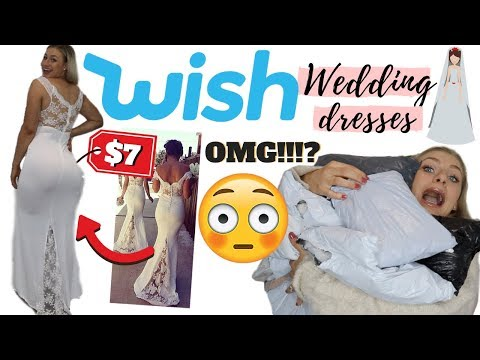 I BOUGHT WISH WEDDING DRESSES FOR $10 | THIS WAS A SHOCK!!!! - UCrIZaW33KeTk7mWLtIEA3iw