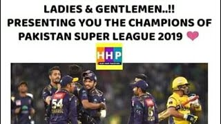 Quetta gladiator is the champion of psl 2019