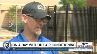 Power outages force day shelter to close, people moved to cooling center amid dangerously high temps