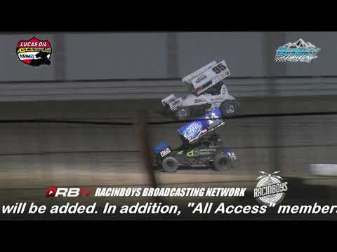 "Highlights of Night Two of The Battle at Big Sky for the American Sprint Car Series National Tour from Big Sky Speedway in Billings MT held July 20 2019. Watch this complete race and hundreds of others On-Demand by becoming a RacinBoys premium member. Only $6.50 a month or $50 a year. The $29.99 a month ""All Access Pass"" includes LIVE full event video of most Lucas Oil ASCS National events. Live full event coverage of additional events will be added. In addition, ""All Access"" members will receive access to all other On-Demand video and all live audio race broadcasts on RacinBoys.com. Join Today at RacinBoys.com - dirt track racing video image"