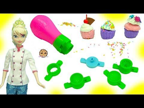 Poppit Air Dry Clay Dough Mini Cupcake Maker Set With Frozen Queen Elsa Doll - UCelMeixAOTs2OQAAi9wU8-g