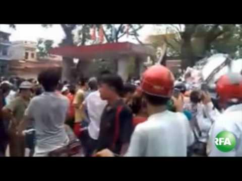 Video: Biểu tình ở Bắc Giang