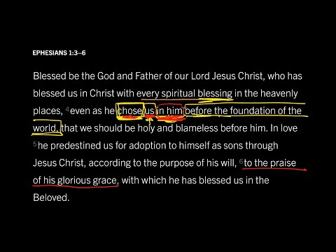 Ephesians 1:36 // Part 4 // What God Did Before the World Began