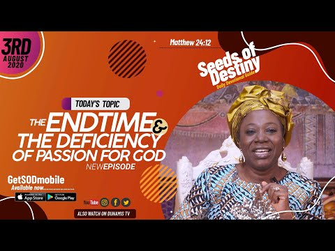 Dr Becky Paul-Enenche - SEEDS OF DESTINY - MONDAY AUGUST 3, 2020