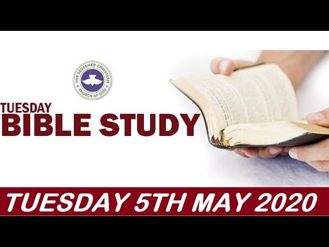 RCCG MAY 5th 2020 BIBLE STUDY  WRITING A LEGACY BY YOUR ACTION