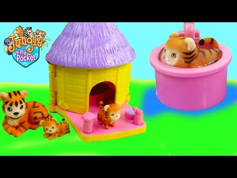 Mom & Baby Tigers Bath Water Play Playset Hut House Jungle In My Pocket Cookieswirlc Unboxing - UCelMeixAOTs2OQAAi9wU8-g