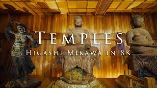 Temples - Higashi Mikawa in 8K