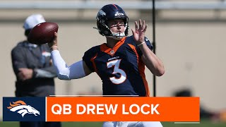 Drew Lock hoping to be 'really clean quarterback' in first outing