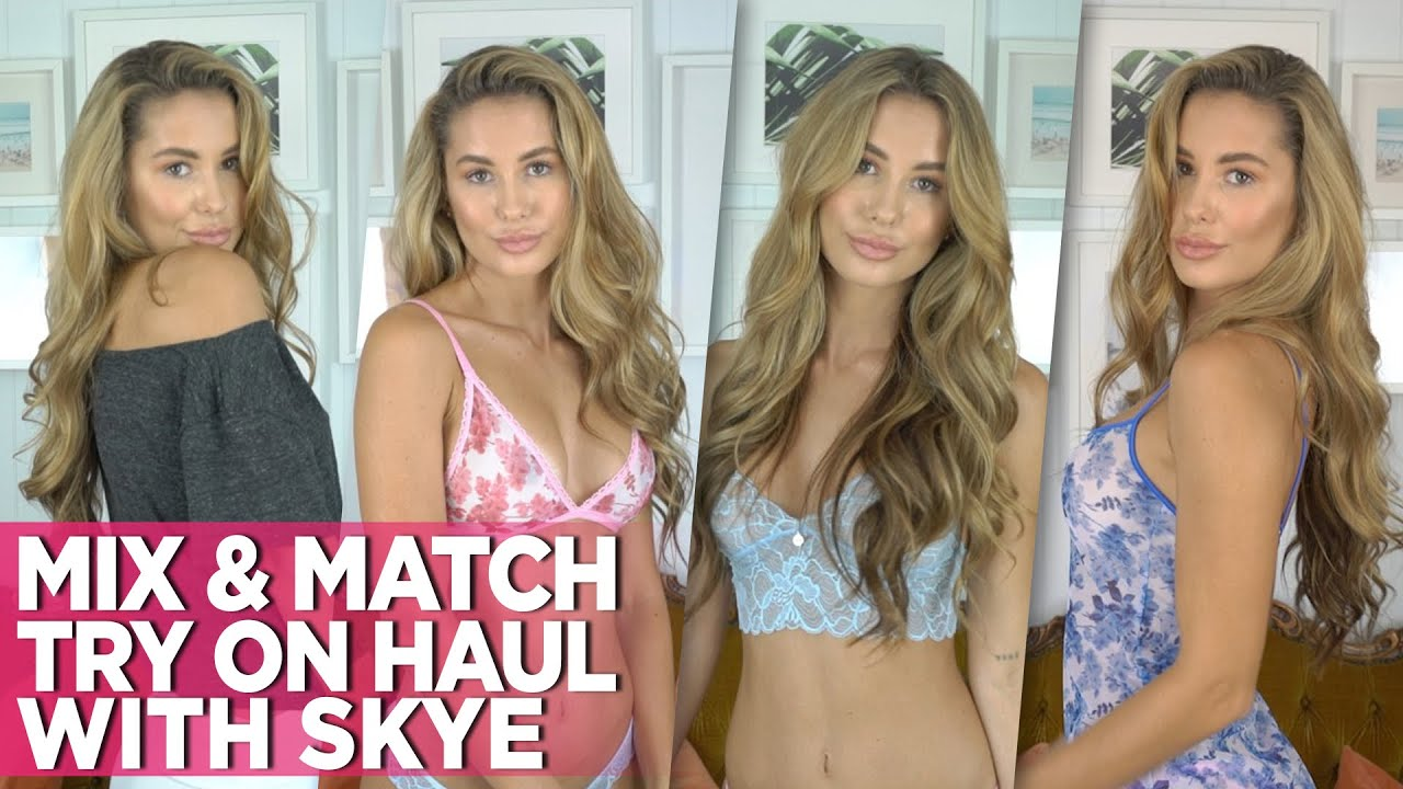 Mix & Match Try On Haul Video With Stunning Skye: Wicked Weasel Sexy Bikinis, Lingerie & More!