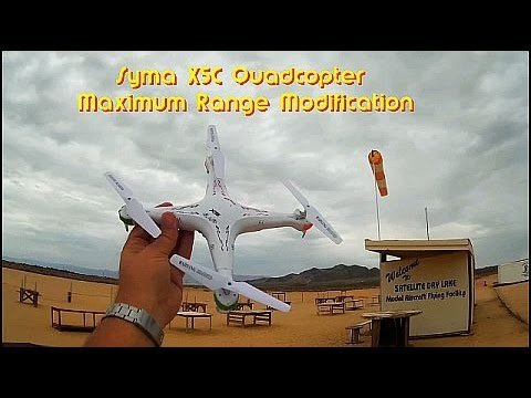 Syma X5C Quadcopter Drone Maximum Range Modification - UC90A4JdsSoFm1Okfu0DHTuQ
