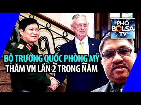 Bộ trưởng Quốc phòng Mỹ thăm Việt Nam lần thứ hai trong năm 2018