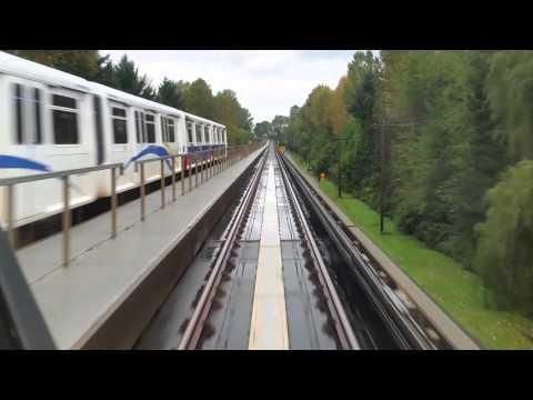Skytrain ride in Vancouver
