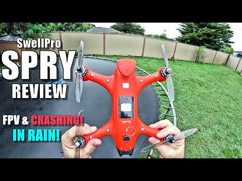 Swellpro SPRY Waterproof Drone Review - Flight Test in the RAIN! & CRASHING! - UCVQWy-DTLpRqnuA17WZkjRQ